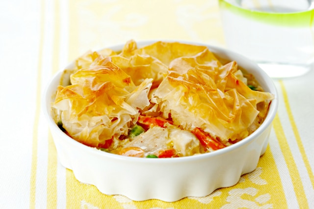 Cheap-Cheap Chicken Pie- One-Breast Chicken and Vegetable Pie