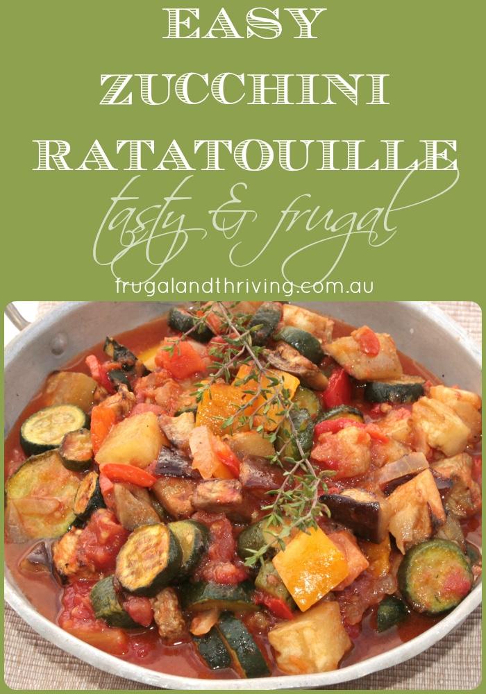 easy zucchini ratatouille