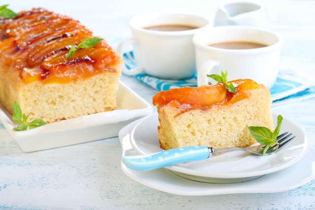 Caramel Peach Upside Down Cake