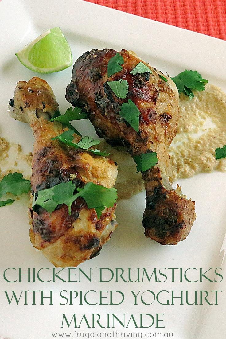 chicken drumsticks with spiced yoghurt marinade