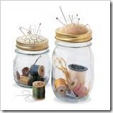 pin jar with pin cushion lid