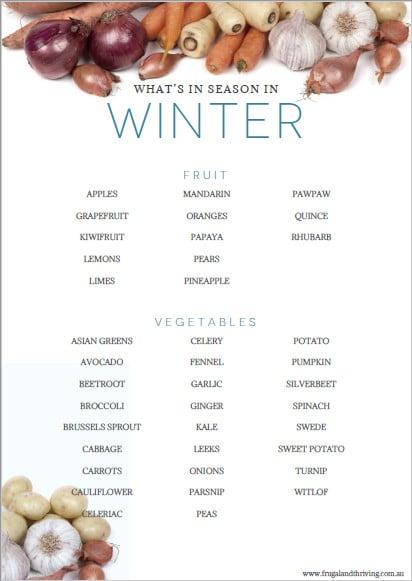 whats in season in winter
