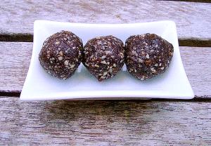 chocolate nut bliss balls