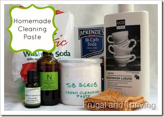 homemade cleaning paste