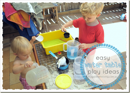 easy frugal water table play ideas