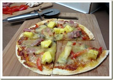 super speedy, super simple tortilla pizza