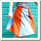 2 colour twirly skirt from Craft Stylish | Frugal and Thriving