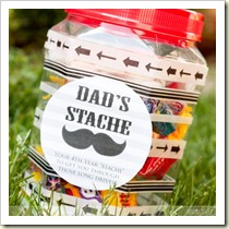 Dad's Stache from the Dating Divas | Frugal and Thriving Father's Day Round Up