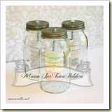 Mason Jar Bakers Twine holder from a casarella | Frugal and Thriving