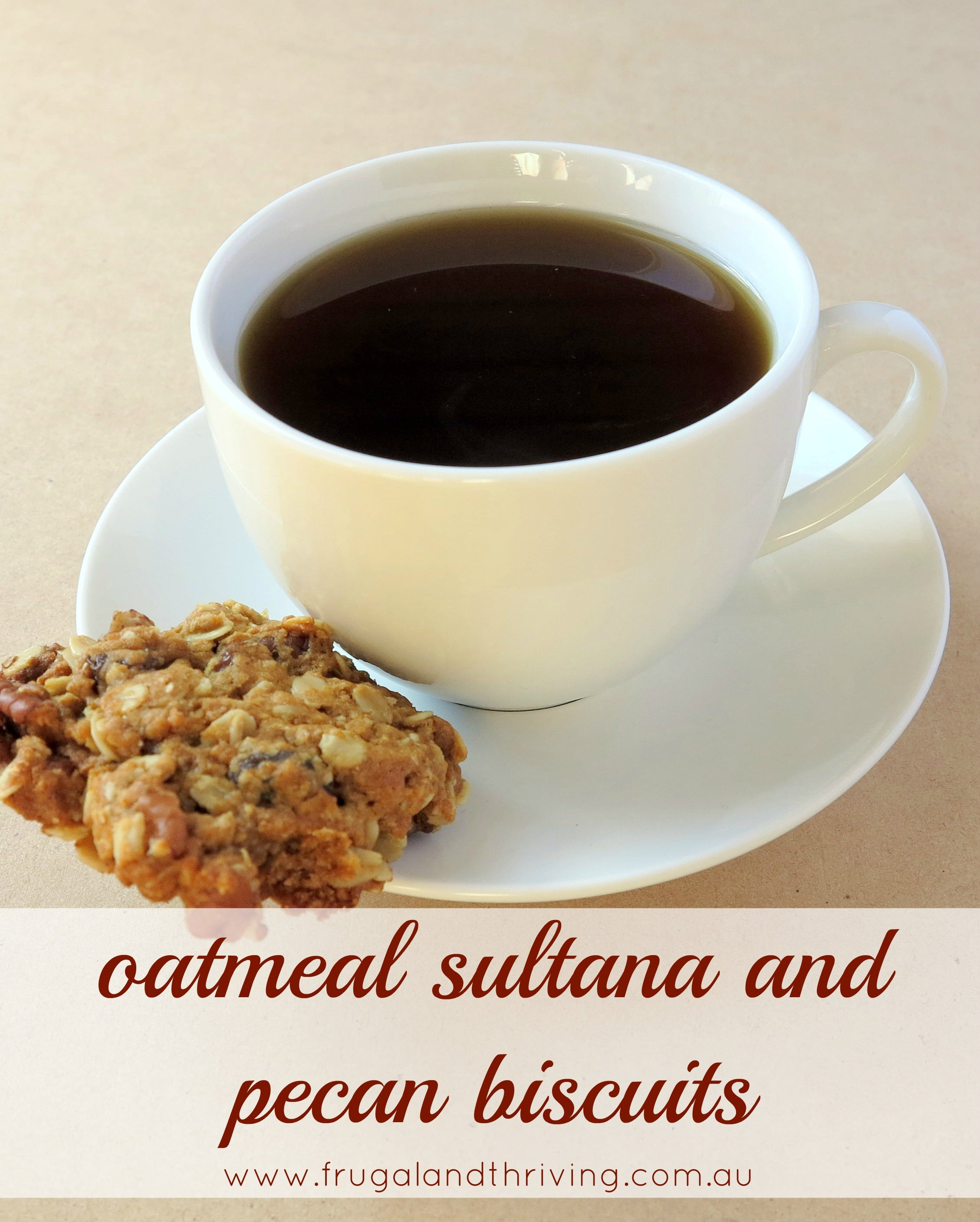 Oatmeal, sultana and pecan biscuit