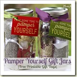 Pamper-Yourself-Gifts-in-a-Jar-Ideas from The Frugal Gals | Frugal and Thriving