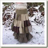 Patchy tiered skirt from The Imaginary Worlds