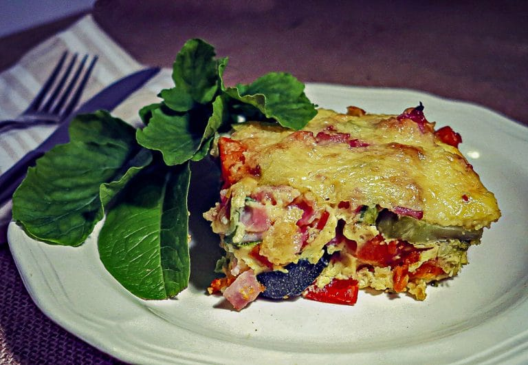 """Free-Up-The-Fridge"" Roast Vegetable Frittata"