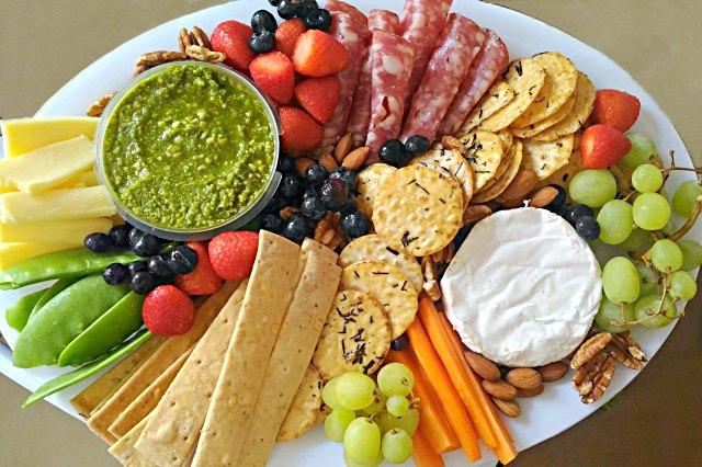 nibbles platter for budget entertaining