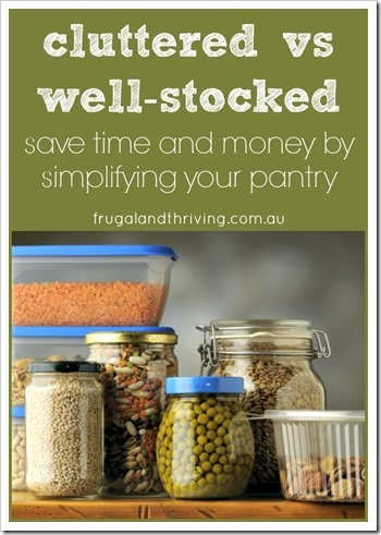 simplify your pantry