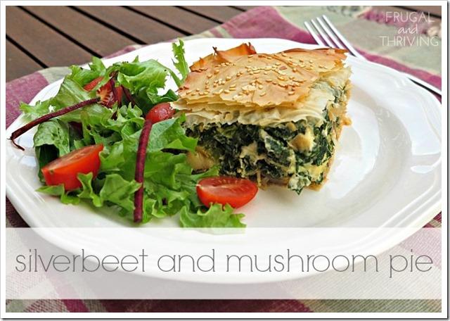 Silverbeet and Mushroom Pie
