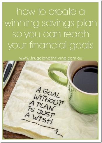 how to create a savings plan