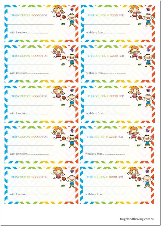Blank Coupon Sheet