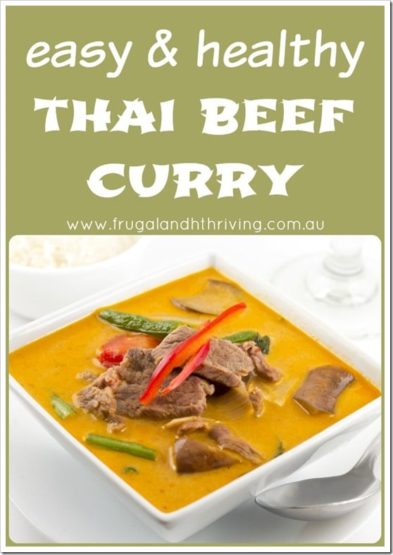 easy and healthy thai beef curry