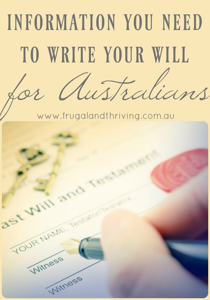 tips for writing your will