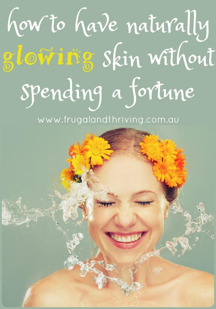 naturally glowing skin
