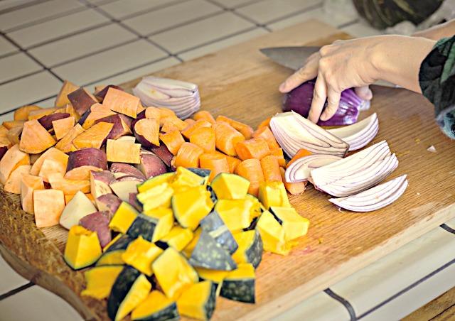 Pre-cut vegetables meal prep