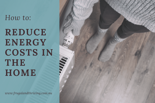 reduce energy costs in the home