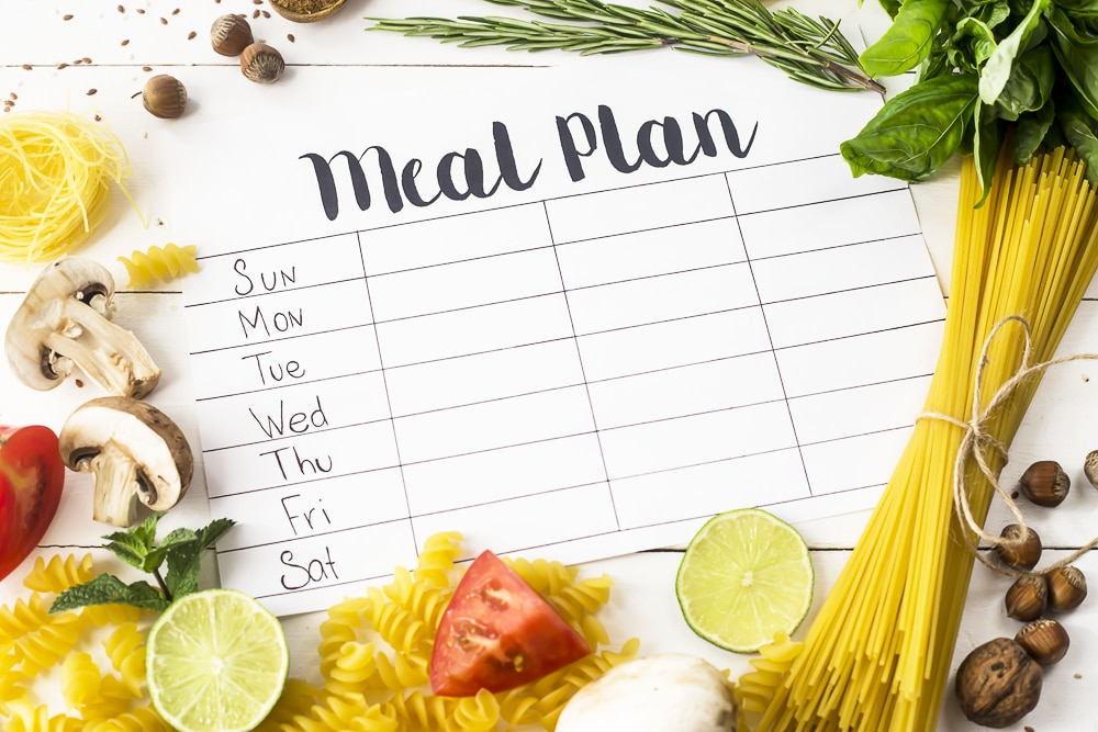 An Easy Meal Planning hack rotating meal plan