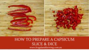 how to prepare a capsicum