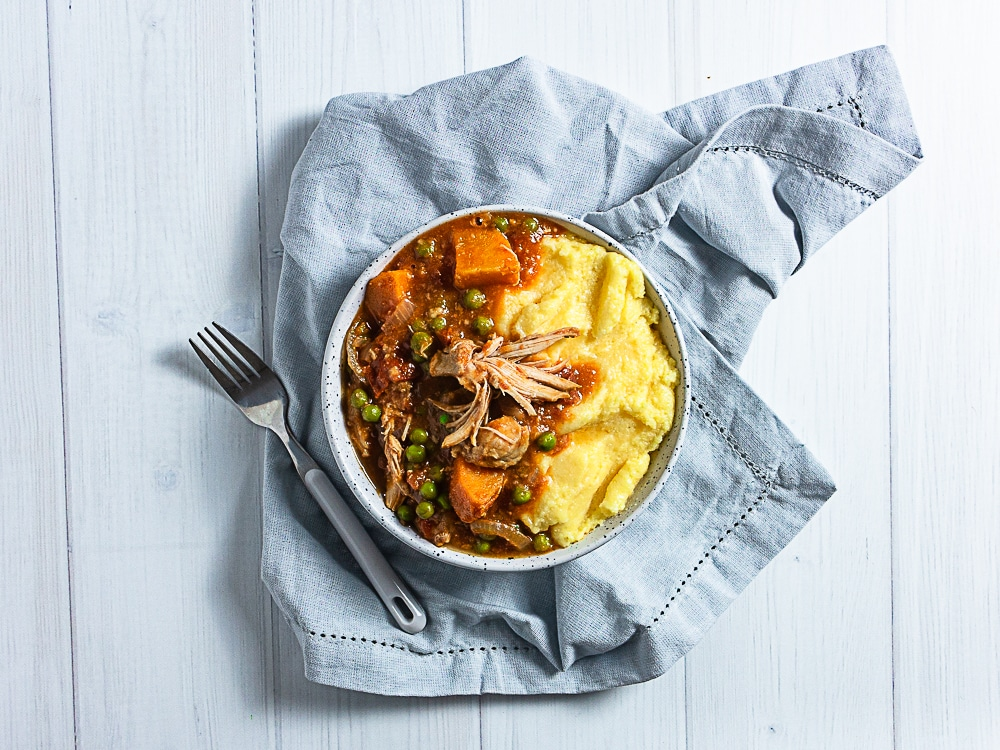 Slow cooker chicken and sweet potato stew