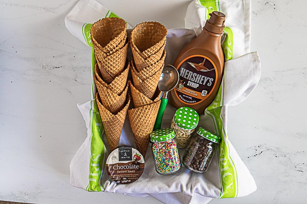 ice cream gift basket