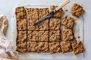 choc oat biscuit slice