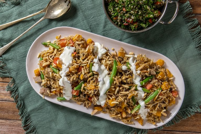Leftover Roast Lamb Pilaf with Morrocan Spices